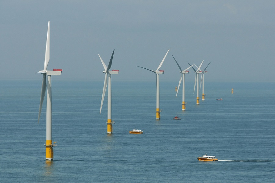 several wind turbines that are used as alternative energy sources