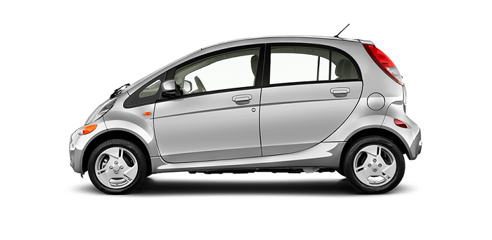 silver Mitsubishi i-MiEV