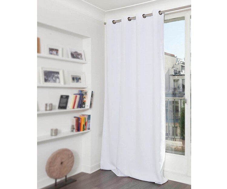 White Moondream Blackout Curtains
