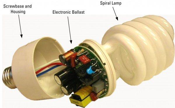 the diagram of a cfl bulbs
