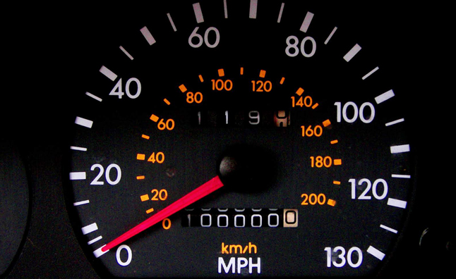 photo of car fuel level indicator