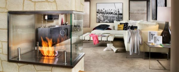 ethanol fireplace interior design example