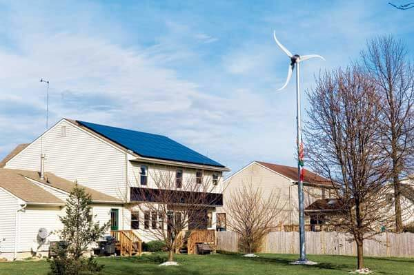 residential wind turbine photo