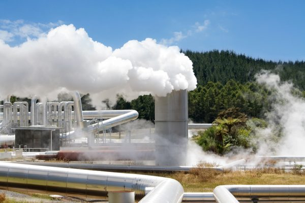 Wairakei geothermal power station, New Zealand.