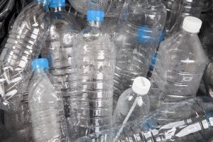 picture of empty plastic water bottles