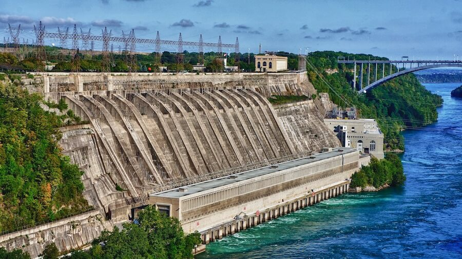 hydroelectric dam outside view