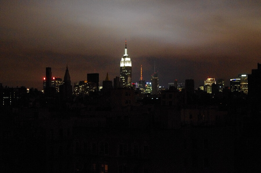 city skyline during blackout