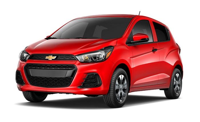red Chevrolet Spark