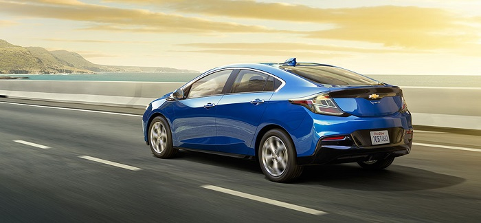 blue chevrolet volt