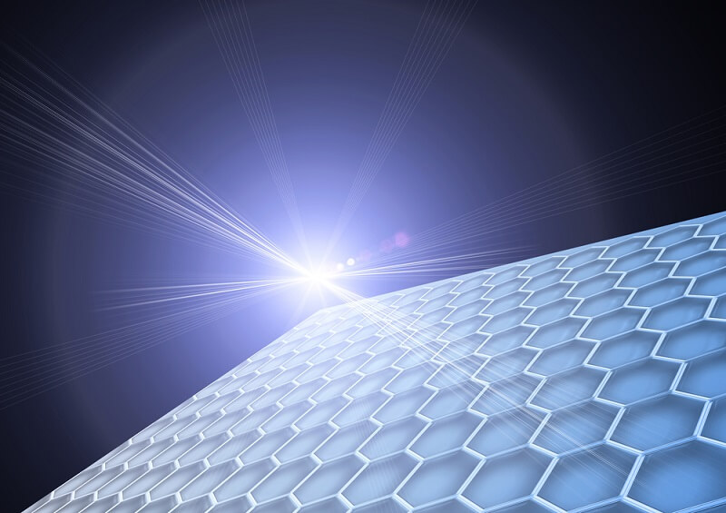solar panel receiving radiant energy