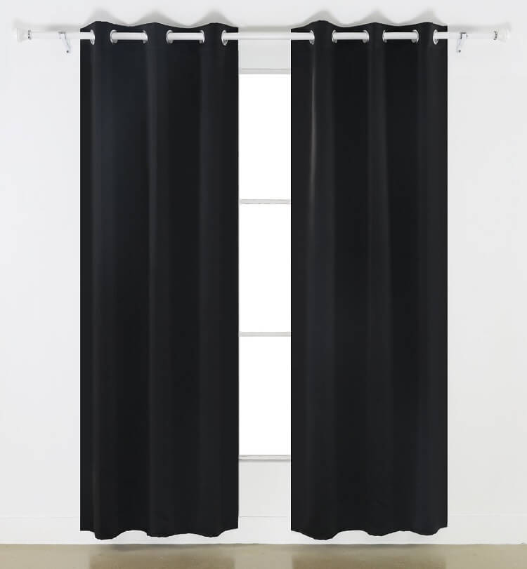 Deconovo Black Thermal Insulated Blackout Panel Curtain