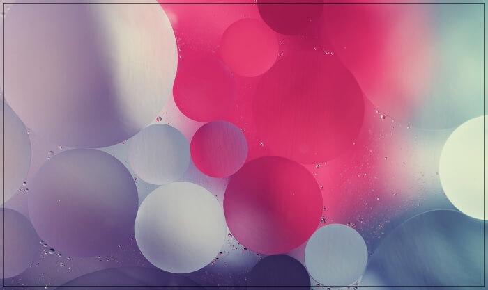 oil bubbles in water