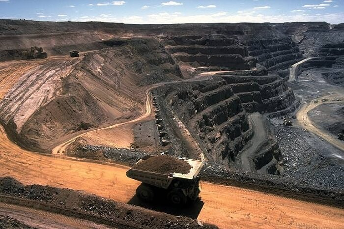 Mining, cause of land pollution