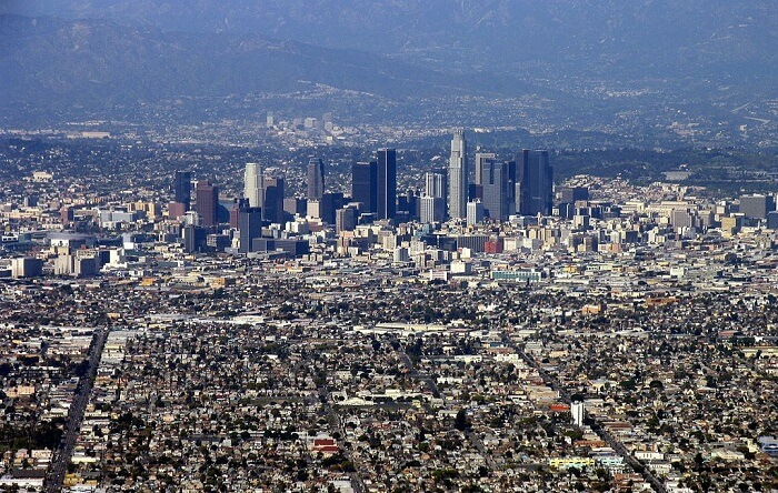 sprawl in downtown Los Angeles