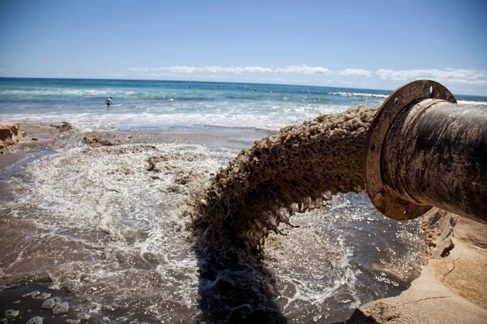 sewage dumping in the ocean, one of the causes of acidification